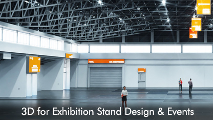 3D for exhibition stand design and events