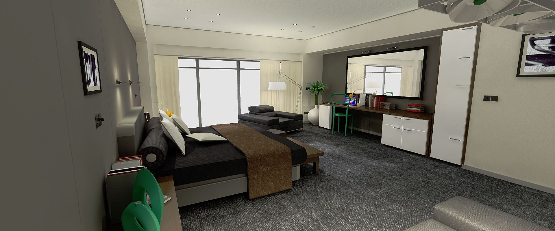 Dosch design 3d models textures hdri audio and viz images for Furniture for hotel rooms