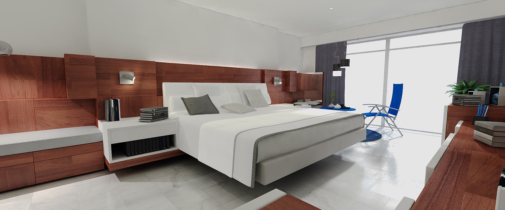 Dosch design dosch 3d hotel room furniture for Mobilia arredamento 3d