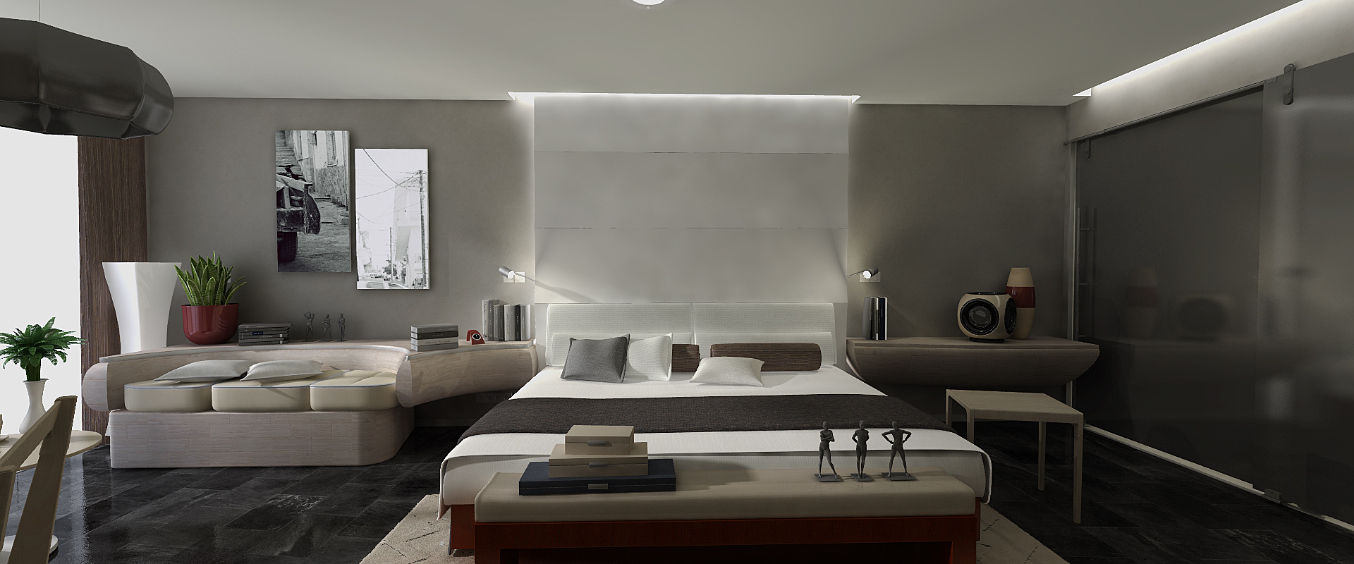 Dosch design dosch 3d hotel room furniture for Furniture for hotel rooms