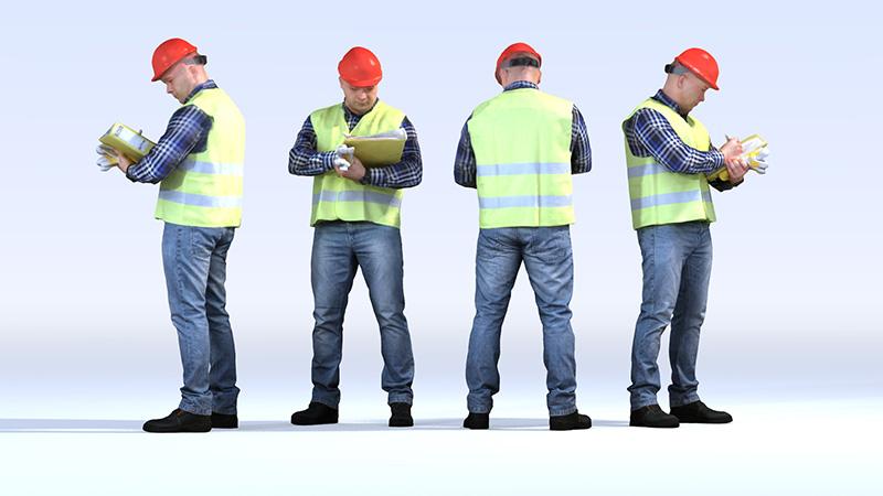Dosch Design Dosch 3d People Construction Worker Vol 1