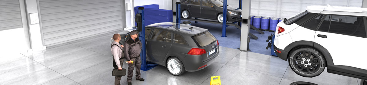 DOSCH 3D 3D-Scenes - Car Service 01 - Plus