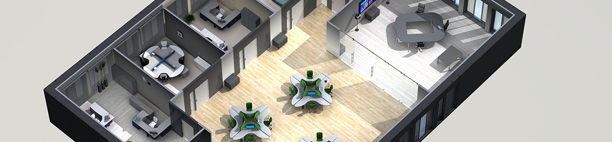 DOSCH 3D 3D-Scenes - Office 02