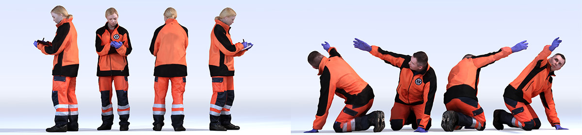 DOSCH 3D People - Ambulance Men Vol. 1
