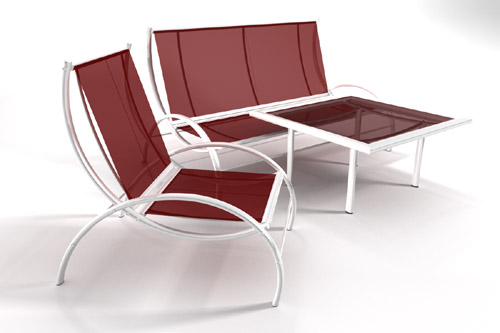 the completely textured 3d models are provided in multiple file formats 3ds 3dsmax version 8 and above lightwave version 7 and above obj - Garden Furniture 3d