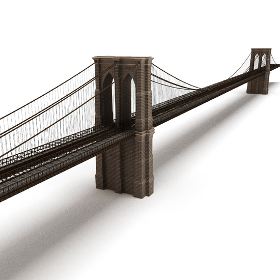 Dosch design dosch 3d brooklyn bridge for Models brooklyn