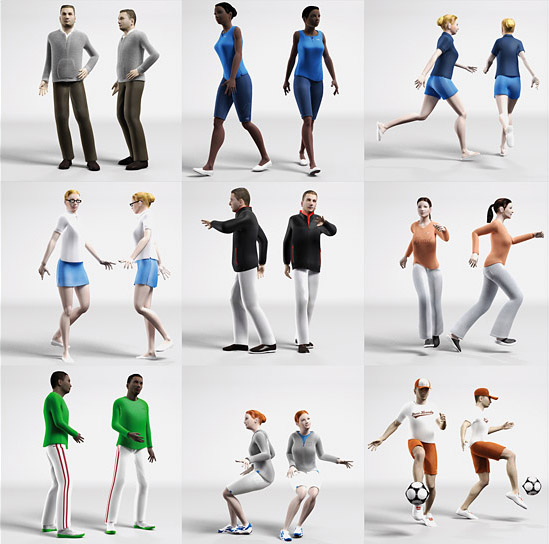 Dosch 3d 3d People Casual