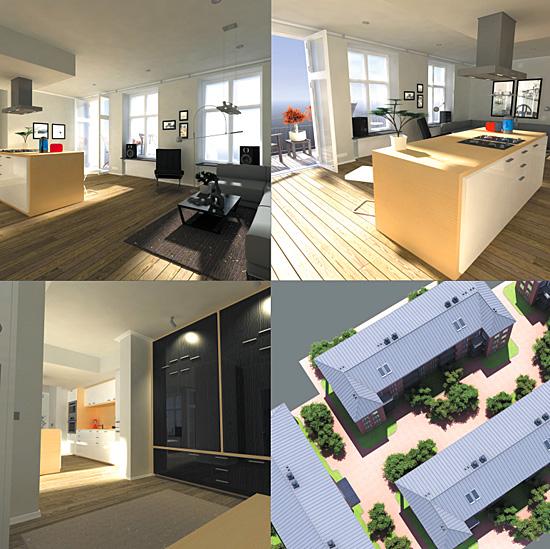 Dosch design dosch 3d apartment 1 for Com apartment model