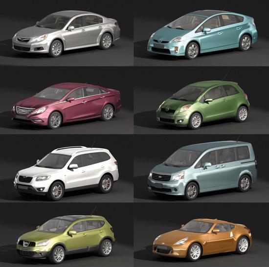 Dosch 3d Cars 2010 Asia V1 1