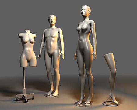 3d модели людей с dummy анимацией