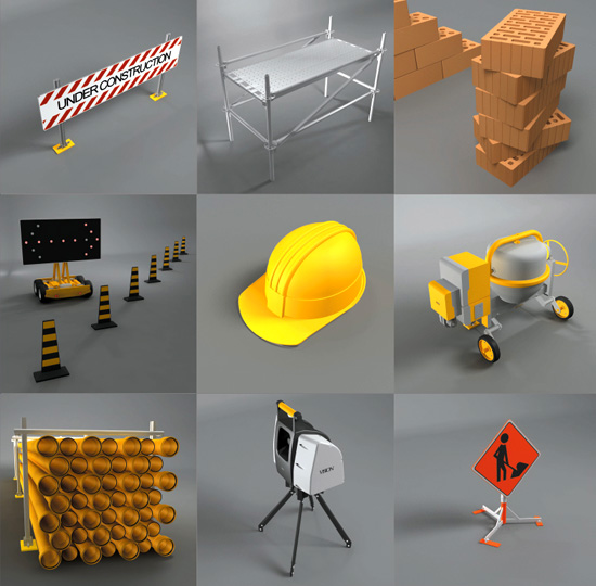 Dosch design dosch 3d construction site 3d model sites