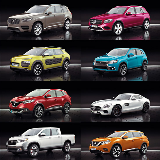 15 Very Detailed And Completely Textured Models Of Highly Realistic Cars Included Are Additional Lo Poly Versions The