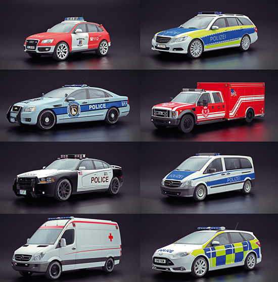Dosch Design Dosch 3d Emergency Police Vehicles V1 1