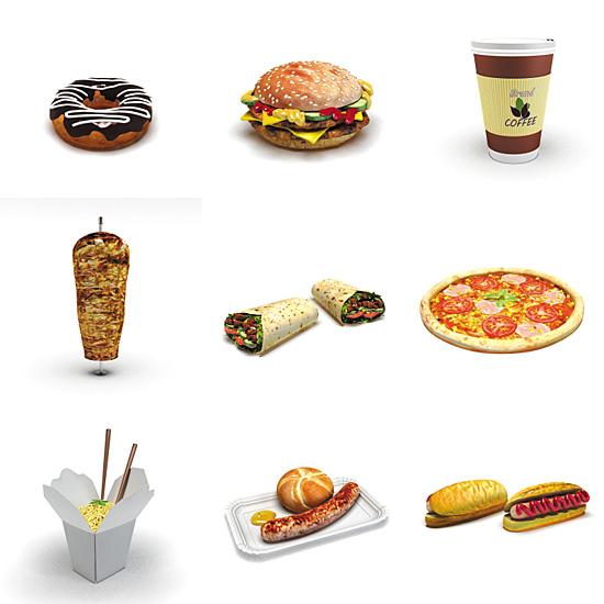 Dosch design dosch 3d fast food for Food bar 3d model