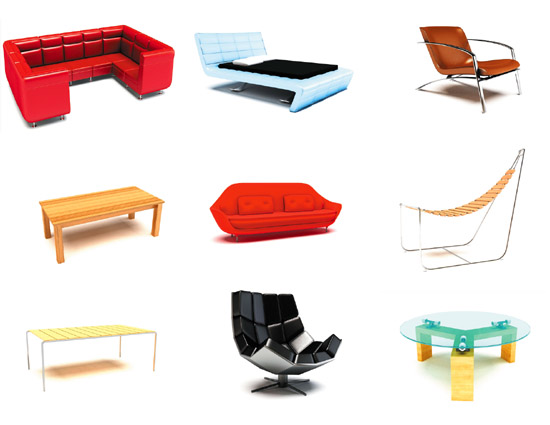 Dosch design dosch 3d furniture v3 for Furniture 3d design