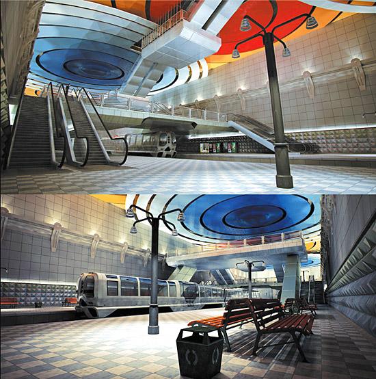 DOSCH DESIGN - DOSCH 3D: Metro Station