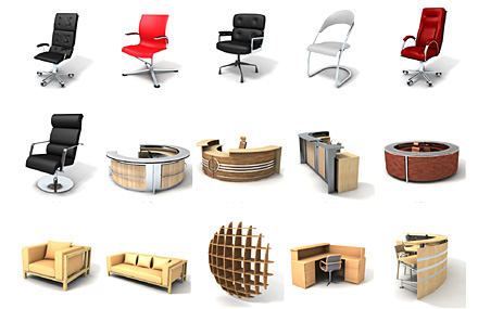 Dosch design 3d models textures hdri audio and viz images for Table design 3d model