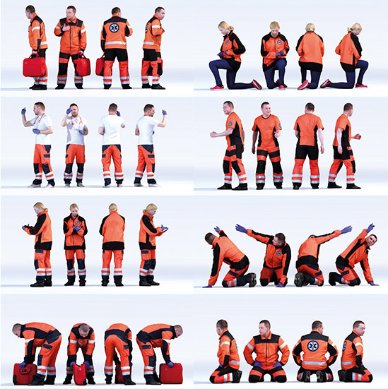 DOSCH 3D: People - Ambulance Men Vol. 1 sample-image