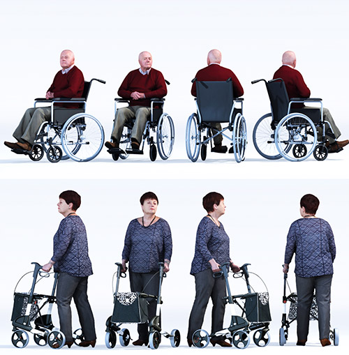 Dosch Design Dosch 3d People Handicapped Seniors Vol 1