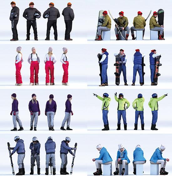 Dosch Design Dosch 3d People Winter Sports Vol 1