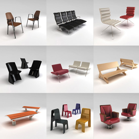 The completely textured 3D models are provided in multiple file formats  3DS  3dsmax  version 4 and above   Lightwave  version 6 5 and above   OBJ  VRML. DOSCH DESIGN   DOSCH 3D  Public Furniture