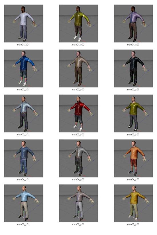 DOSCH DESIGN - DOSCH 3D: Rigged Humans for Cinema 4D