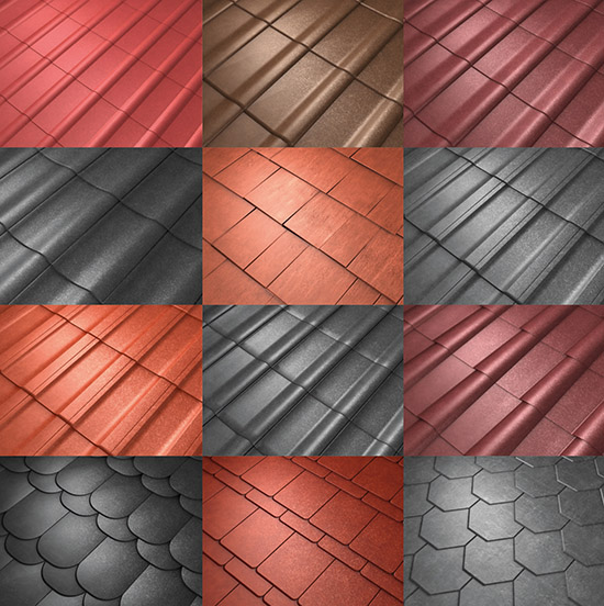 the product dosch textures roof tiles contains 60 high resolution seamless tileable textures
