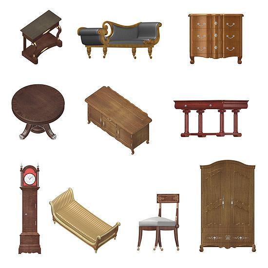 Dosch Design Dosch 2d Viz Images Antique Furniture