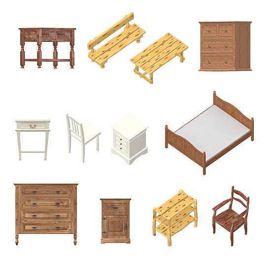 Dosch Design Dosch 2d Viz Images Country House Furniture