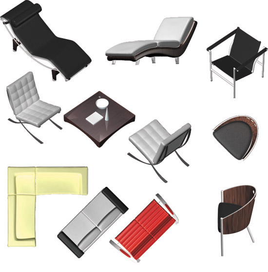Home furniture in top view Vector  Premium Download