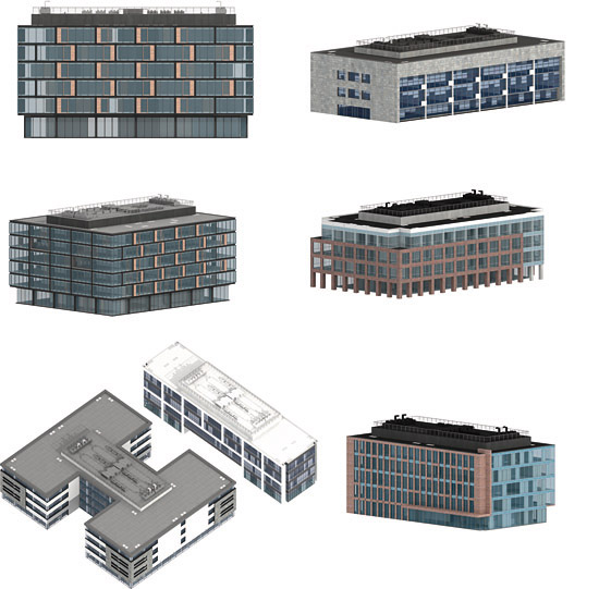 dosch viz images office buildings contains 500 depictions of office buildings instead of using 3d models which require extensive computing resources
