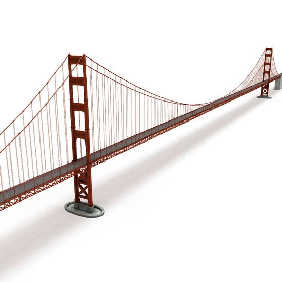 Dosch Design Dosch 3d Golden Gate Bridge