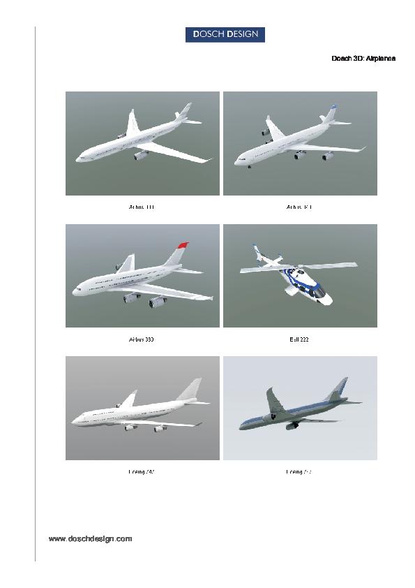 DOSCH DESIGN - DOSCH 3D: Airplanes