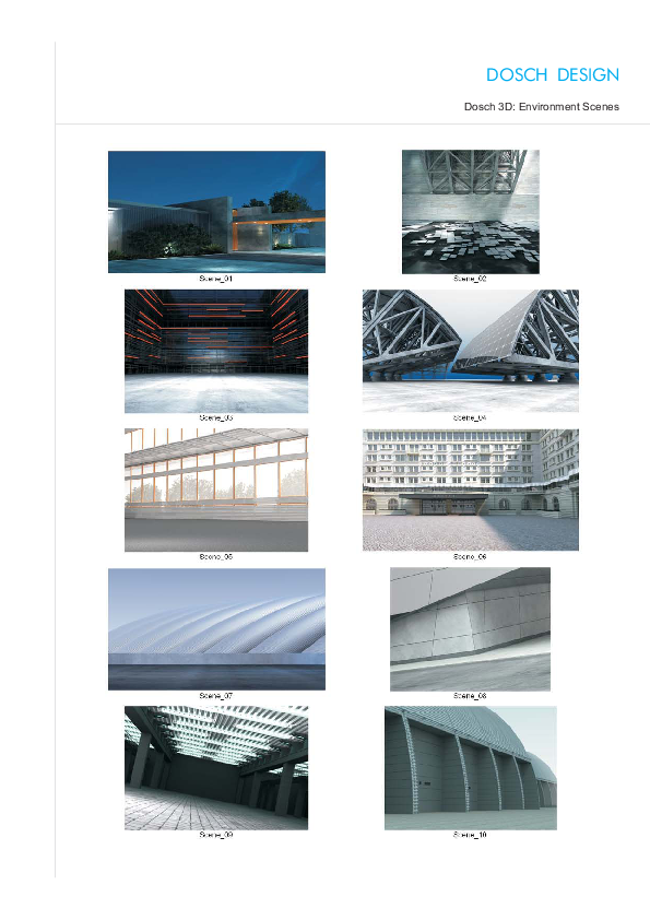 DOSCH DESIGN - DOSCH 3D: Environment Scenes