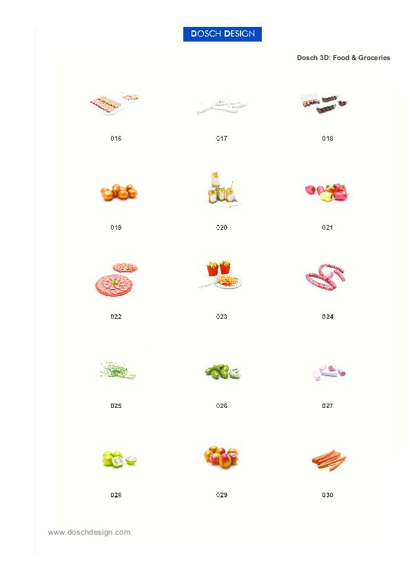 DOSCH DESIGN - DOSCH 3D: Food & Groceries