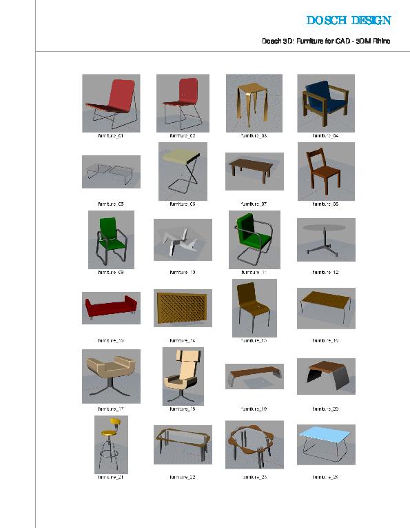 Dosch design dosch 3d furniture for cad for Sessel 3d dwg