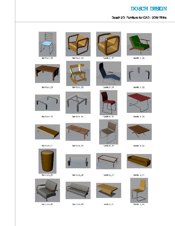 Dosch design dosch 3d furniture for cad for Schaukelstuhl 3d modell