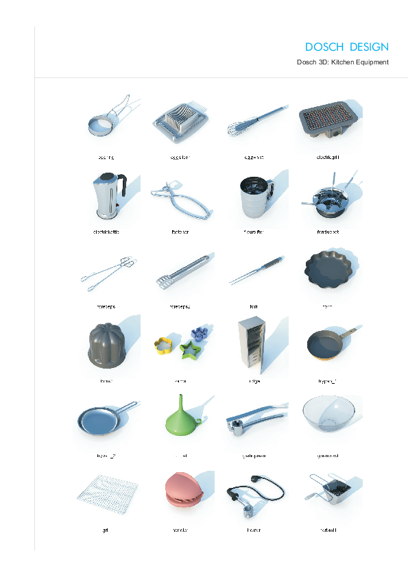 DOSCH DESIGN - DOSCH 3D: Kitchen Equipment