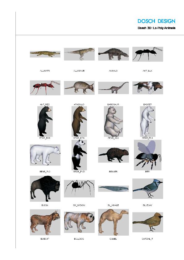 DOSCH DESIGN - DOSCH 3D: Lo-Poly Animals