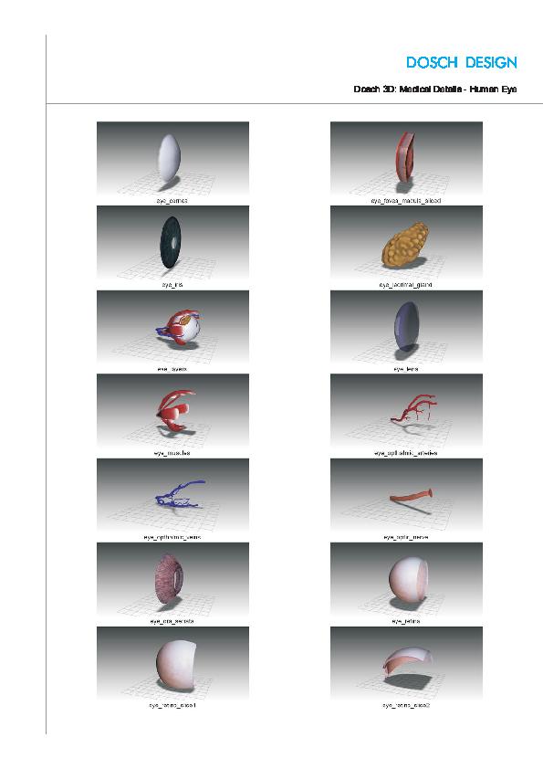 DOSCH DESIGN - DOSCH 3D: Medical Details - Human Eye