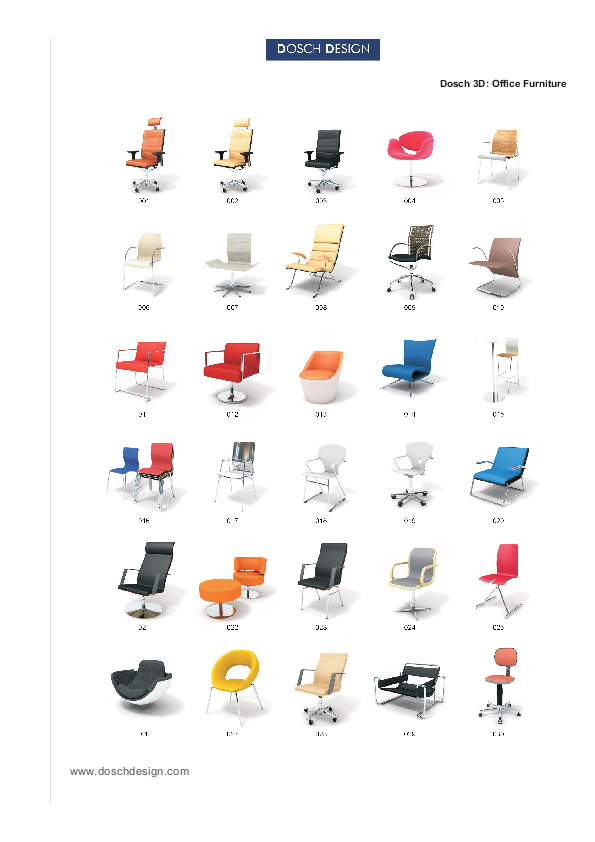 DOSCH DESIGN - DOSCH 3D: Office Furniture
