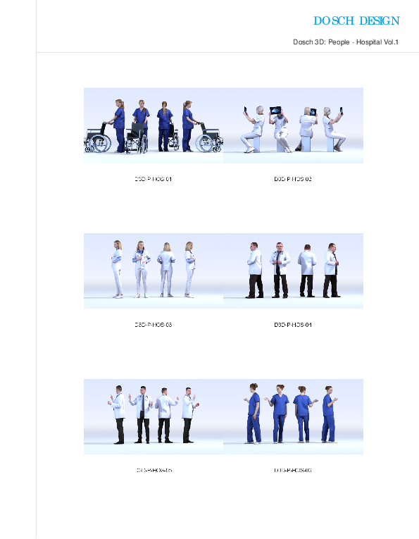 DOSCH DESIGN - DOSCH 3D: People - Hospital Vol  1