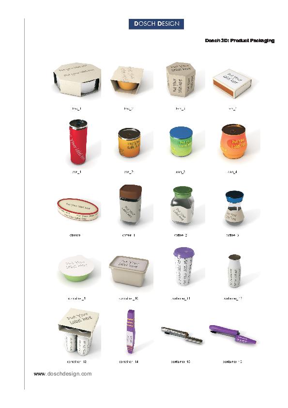 DOSCH DESIGN - DOSCH 3D: Product Packaging