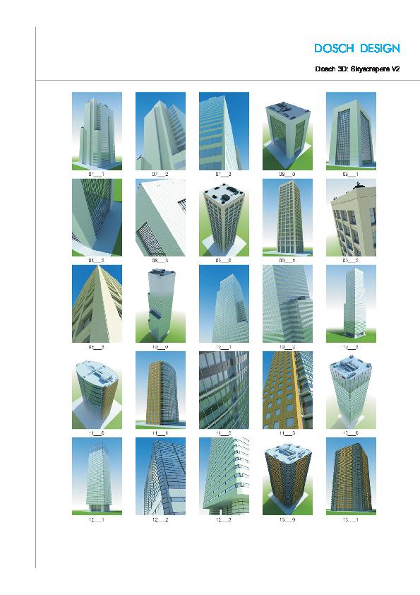 DOSCH DESIGN - DOSCH 3D: Skyscrapers V2