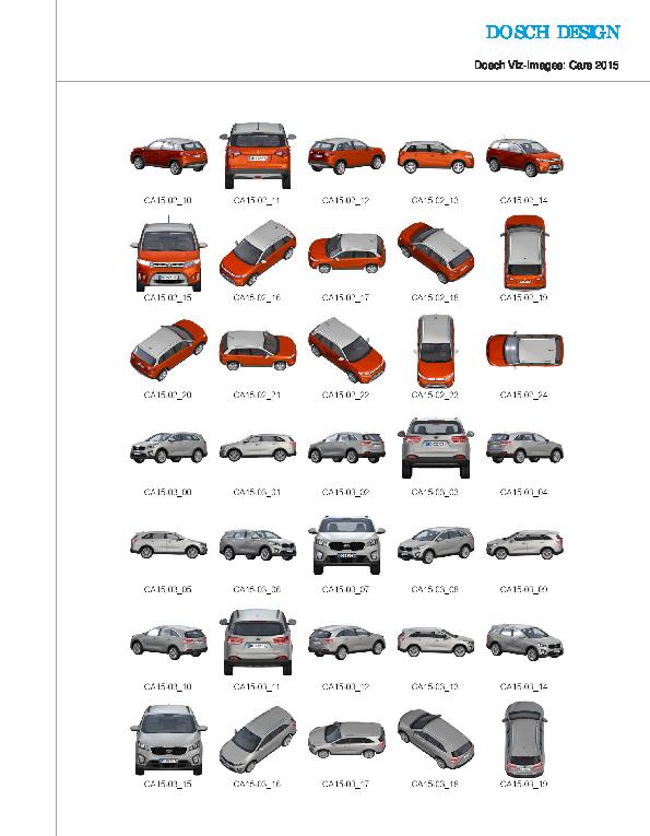 DOSCH DESIGN - DOSCH 2D Viz-Images: Cars 2015