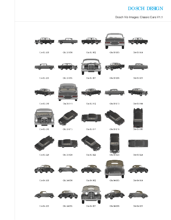 DOSCH DESIGN - DOSCH 2D Viz-Images: Classic Cars V1.1