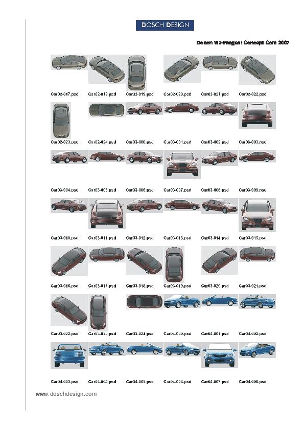 DOSCH DESIGN - DOSCH 2D Viz-Images: Concept Cars 2007