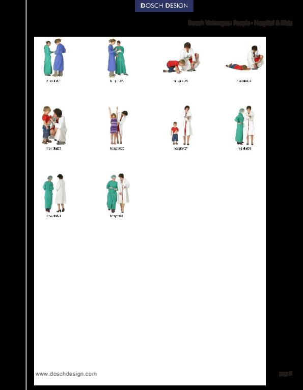 DOSCH DESIGN - DOSCH 2D Viz-Images: People - Hospital & Kids