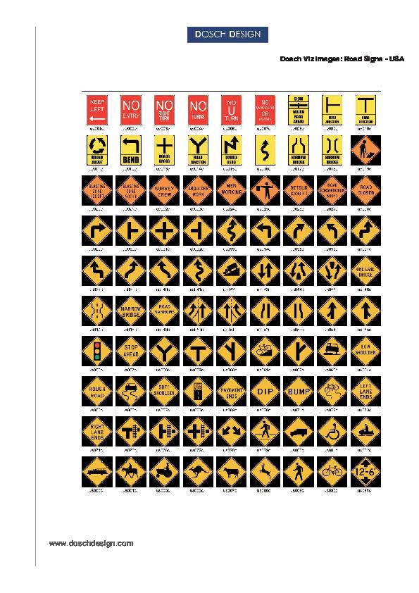 DOSCH DESIGN - DOSCH 2D Viz-Images: Road Signs - USA