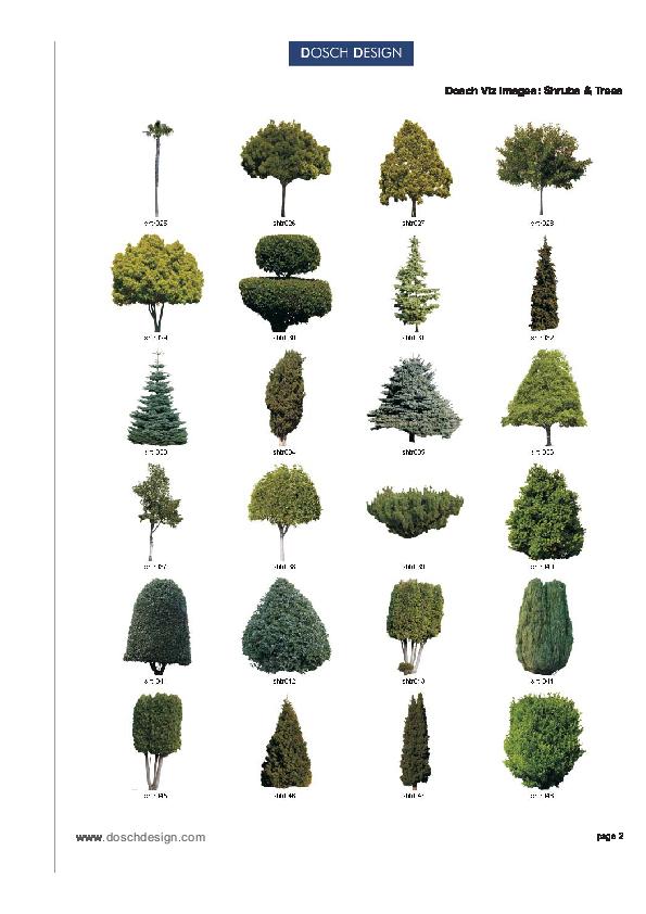 DOSCH DESIGN - DOSCH 2D Viz-Images: Shrubs & Trees